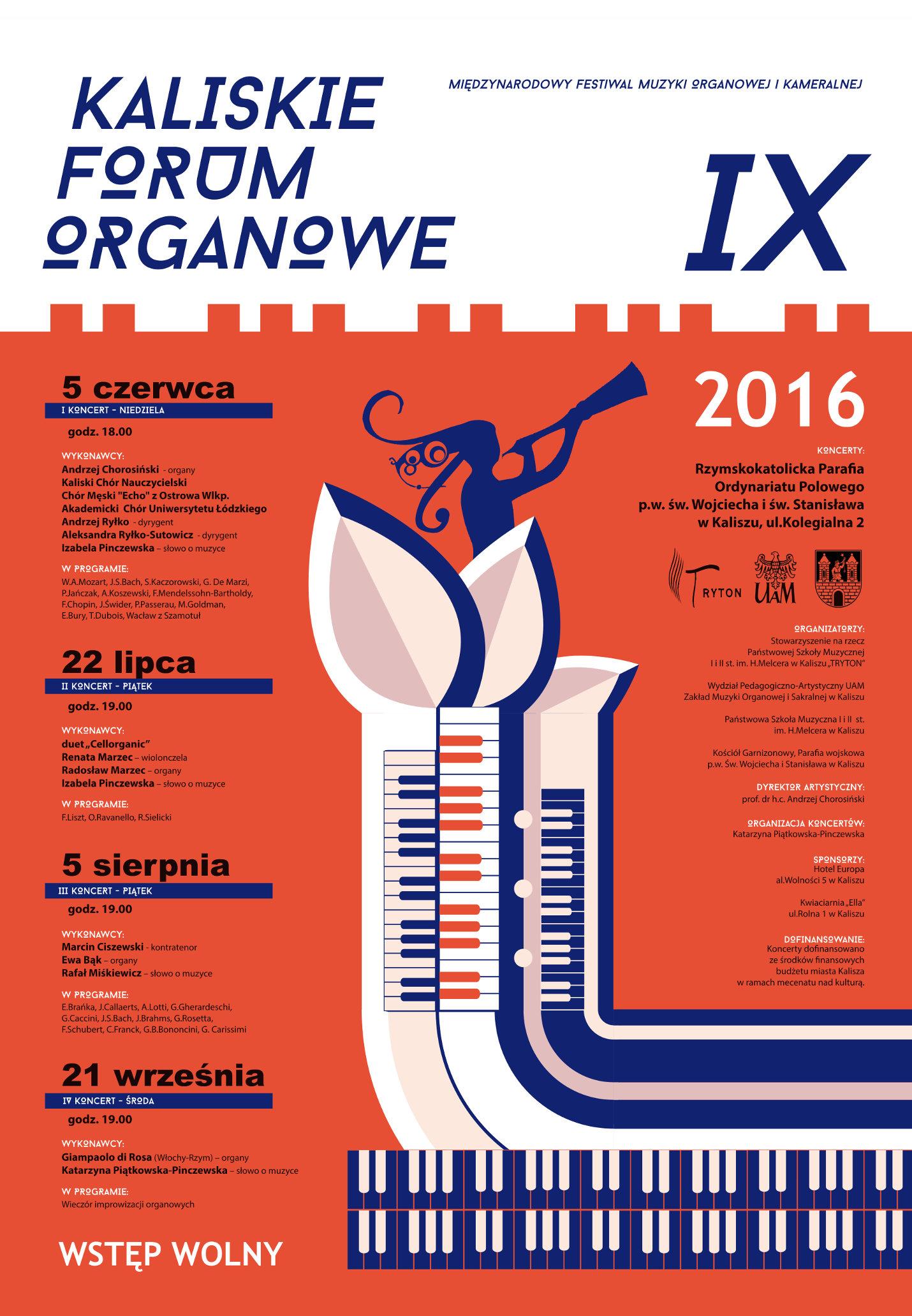 IX Kaliskie forum organowe afisz