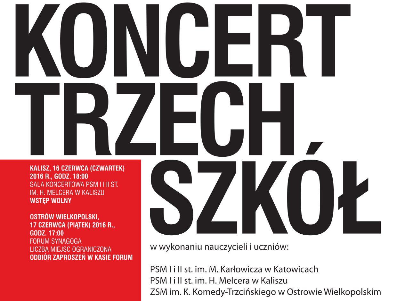 plakat - koncert trzech szkol